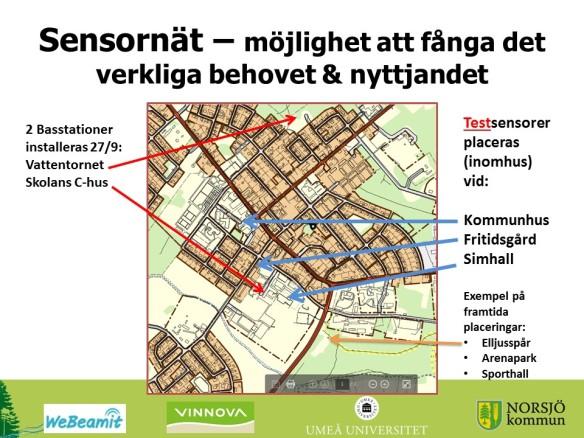 Sensornät i Norsjö - WeBeamIt